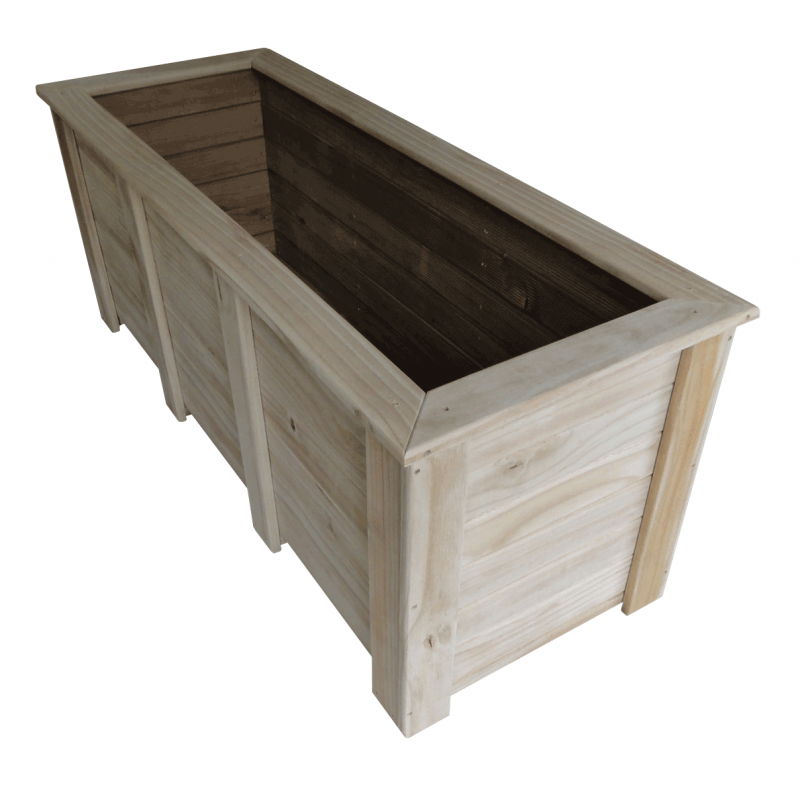 Large Corner L Shaped Wooden Garden Planter Box Trough: Odjo: Topic Timber Planter Boxes Bunnings