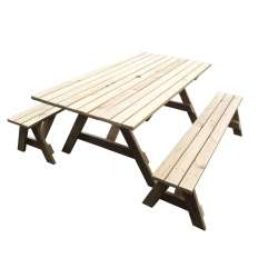 """Ranch Series Super-sized"" - 1.8m Table + 2x Benches - Adults Separate Table + Seats"