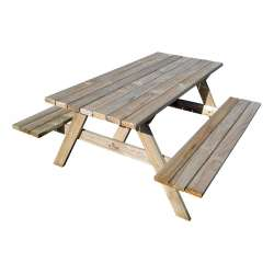 """Kiwi Classic - 1.5m Long"" - Adults Traditional Picnic Table / Classic BBQ Table"
