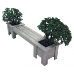Planter Boxes & Seat Combo