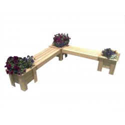 L-SHAPE Corner Planter Boxes + Seat Combo