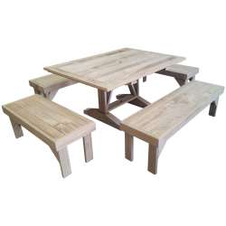 """Exquisite Entertaining"" - Rectangular Table & Benches - 10seats"