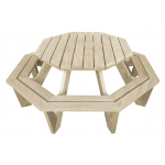 """Ocky The Octopus"" - Kids Octagon BBQ Table - 8 Seats"