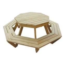 """The Weekender"" - Adults Octagonal / Round BBQ Table - 8 Seats"