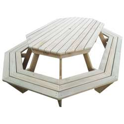 """The Long Weekender"" - Adults Octagonal / Round BBQ Table - 10 Seats"