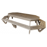 """The Long Weekender - Super-Sized"" - Adults Octagon Table - 14 Seats!"