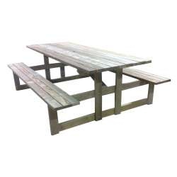 """One Piece - Table & Bench Seats"" - 8 seats (Optional Bench Seats to seat 10/12)"