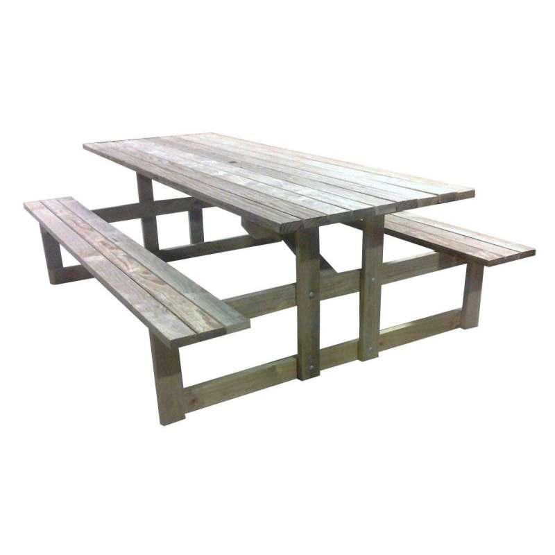 Table With Bench Seats: Table & Bench Seats""