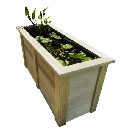 Raised pond outdoor fish pond 1500l x 600d x 750h for Portable fish pond