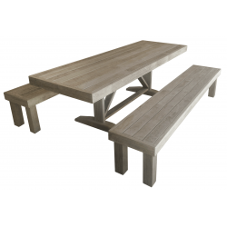 Formal Table & Benches (SUIT: LONG SKINNY AREA)