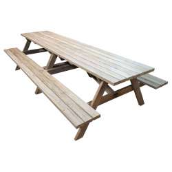 """Kiwi Classic - 3.0m Long"" - Adults Traditional Picnic Table / Classic BBQ Table"