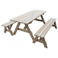 """Ranch Series - 1.8m Table + 2x Benches"" - Adults Separate Table + Seats"
