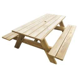 """Kiwi Classic - HEAVY DUTY - 1.8m Long"" - Adults Picnic / BBQ Table"