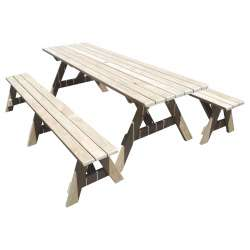 """Ranch Series - 2.4m Table + 2x Benches"" - Adults Separate Table + Seats"