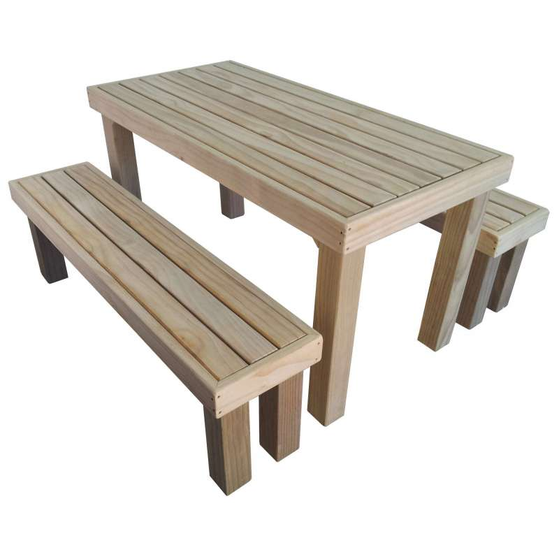 Formal Outdoor Table Amp 2x Benches 1500l X 750w X 750h