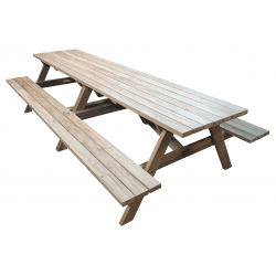 """Kiwi Classic - 3.6m Long"" - Adults Traditional Picnic Table / Classic BBQ Table"