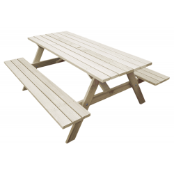 """Kiwi Classic - 1.8m Long"" - Adults Traditional Picnic Table / Classic BBQ Table"