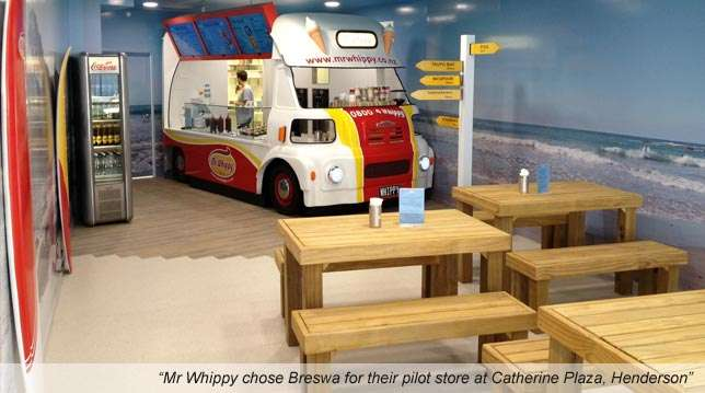 Mr Whippy using Breswa products in their first store; Catherine Plaza, Henderson